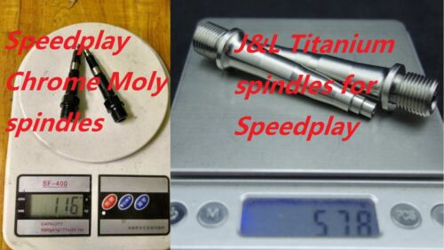J/&L Titanium//Ti Pedal Spindles//Axle for SpeedPlay Zero,X1,X2/&Ultra Light Action