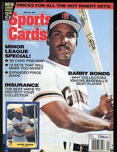 Sports-Cards-Magazine-September-1993-Barry-Bonds-w-Mint-Cards-jhscd5