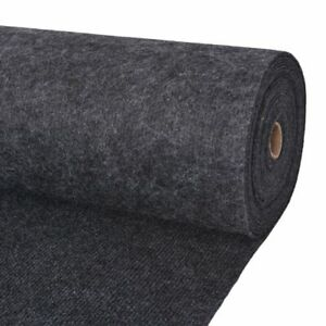 vidaXL-Exhibition-Carpet-Rib-2x10m-Anthracite-Commercial-Wedding-Party-Rug
