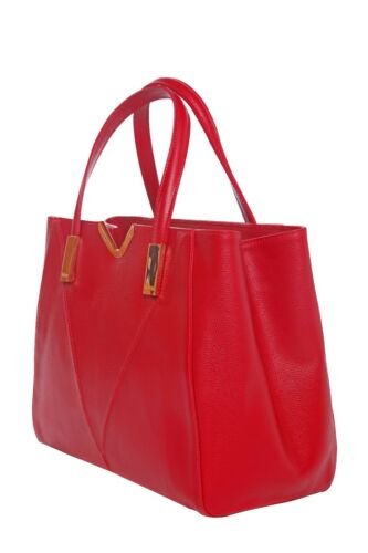 Fourre tout Bureau La Rouge Cuir Main sac De Fatima Palmelato À Italien Sac w1Awq84