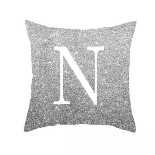 """18/"""" 26 LETTRES Polyester Pillow Case Throw Cover Canapé taille coussin Home Decor"""