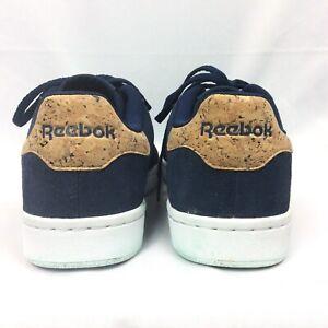 Reebok-Size-39-EU-US-7-Royal-Foam-Lite-Sneaker-Navy-Blue-Suede-Cork-Ortholite