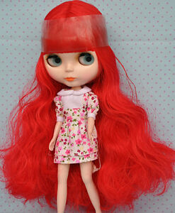 Takara 12 Neo Blythe Blue Hair Joint Body Nude Doll from