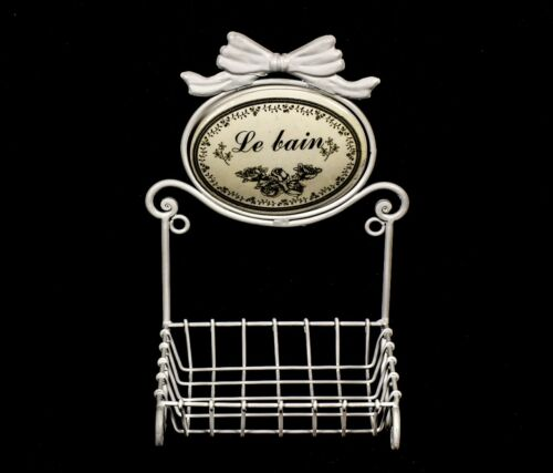 Stylish Sturdy Wall Mounting Le BAIN Soap Dish Holder Shabby Chic in White