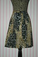 Alex Marie Petite Pleated Knee-length Animal Print Chiffon Skirt 8p