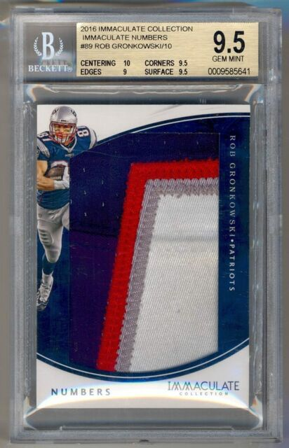 d216d60f8ea 2016 Immaculate Collection Numbers ROB GRONKOWSKI Jersey Patch  10 BGS 9.5  POP 1