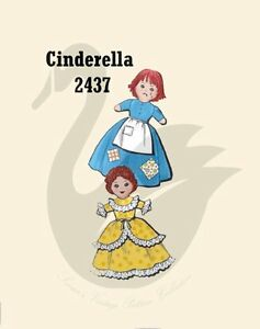 Reproduction Vintage Cinderella Topsy Turvy Doll Sewing Pattern Ebay