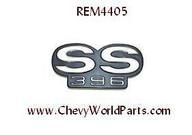 Chevelle SS 396 1967 Rear Panel Emblem Malibu Super Sport C-1830 In Stock