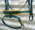 PVC Bridle -Green & Gold - Mac Tack - BEST Quality