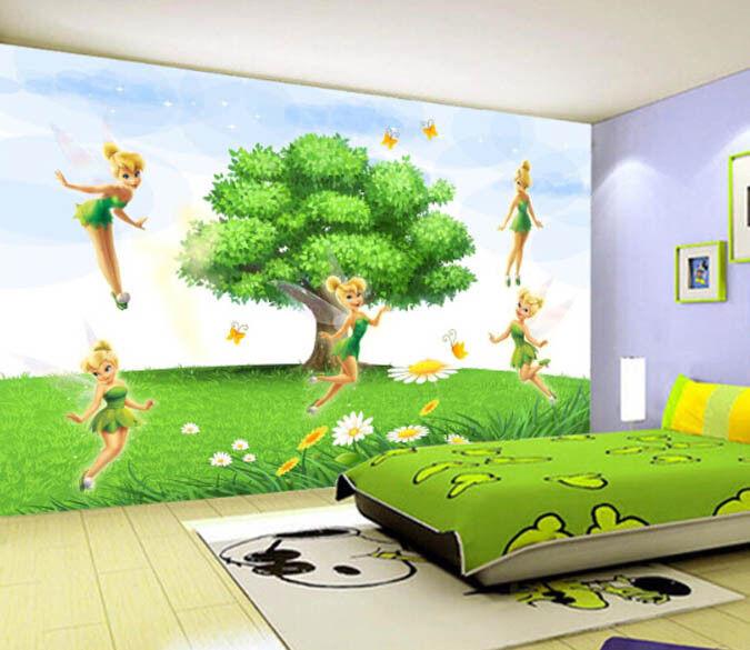 3D Lawn Tree Fairy 98 Wallpaper Mural Paper Wall Print Wallpaper Murals UK Lemon