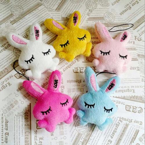 2Pcs Kids Baby Plush Toy Cartoon Rabbit Lovely Squinting Bowkot Stuffed Toys YL