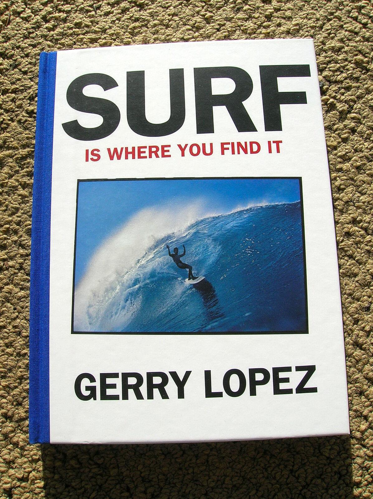 Gerry Lopez Surf Surfista Longboard libro Surf es donde usted encontrar Tabla De Surf HB