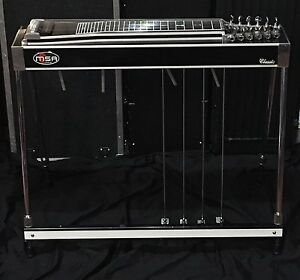 msa classic s12 w extend body 4 4 pedal steel guitar w case ebay. Black Bedroom Furniture Sets. Home Design Ideas