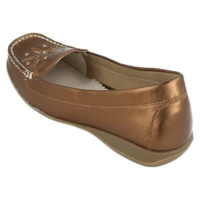 Damen gluv Bronze Slip On Schuhe - Davana - Größe UK 4