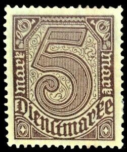 very rare Germany stamp, a set of 12 stamps, Dienst Marke, 1920s