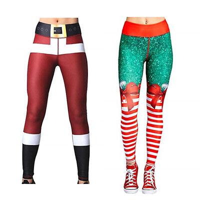 Christmas Running Leggings.Women S Christmas Leggings Active Workout Running Yoga Gym Pants Stretchy Casual Ebay