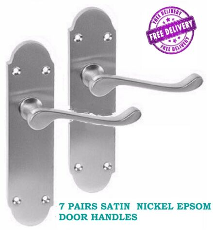 X7 STAINLESS STEEL/'Epsom/' Interior Lever Door HandlesSATIN Steel Finish X7