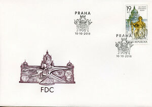Czech-Republic-2018-FDC-National-Museum-1v-Set-Cover-Museums-Architecture-Stamps