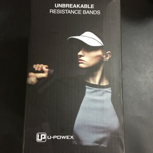 UPOWEX Unbreakable Resistance Bands Set 5 Stackable Exercise Bands Up To 150 Lbs