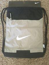Nike Shoe Bag Shoe Sack Backpack Gray Black Whtie Zipper Divider NWT!