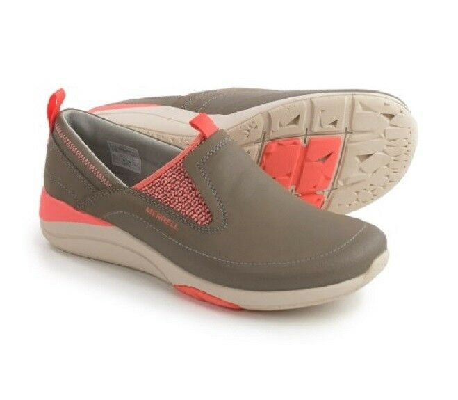 Merrell Merrell Merrell Applaud Moc schuhe - Leather, Slip-Ons damen Brindle cf57ce