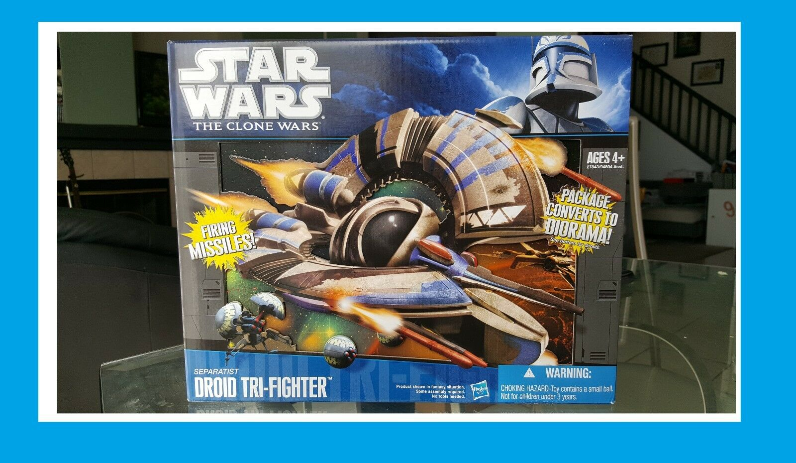 Nuovo Star Wars The Clone Wars Separatist Droid Tri-Fighter Diorama Box