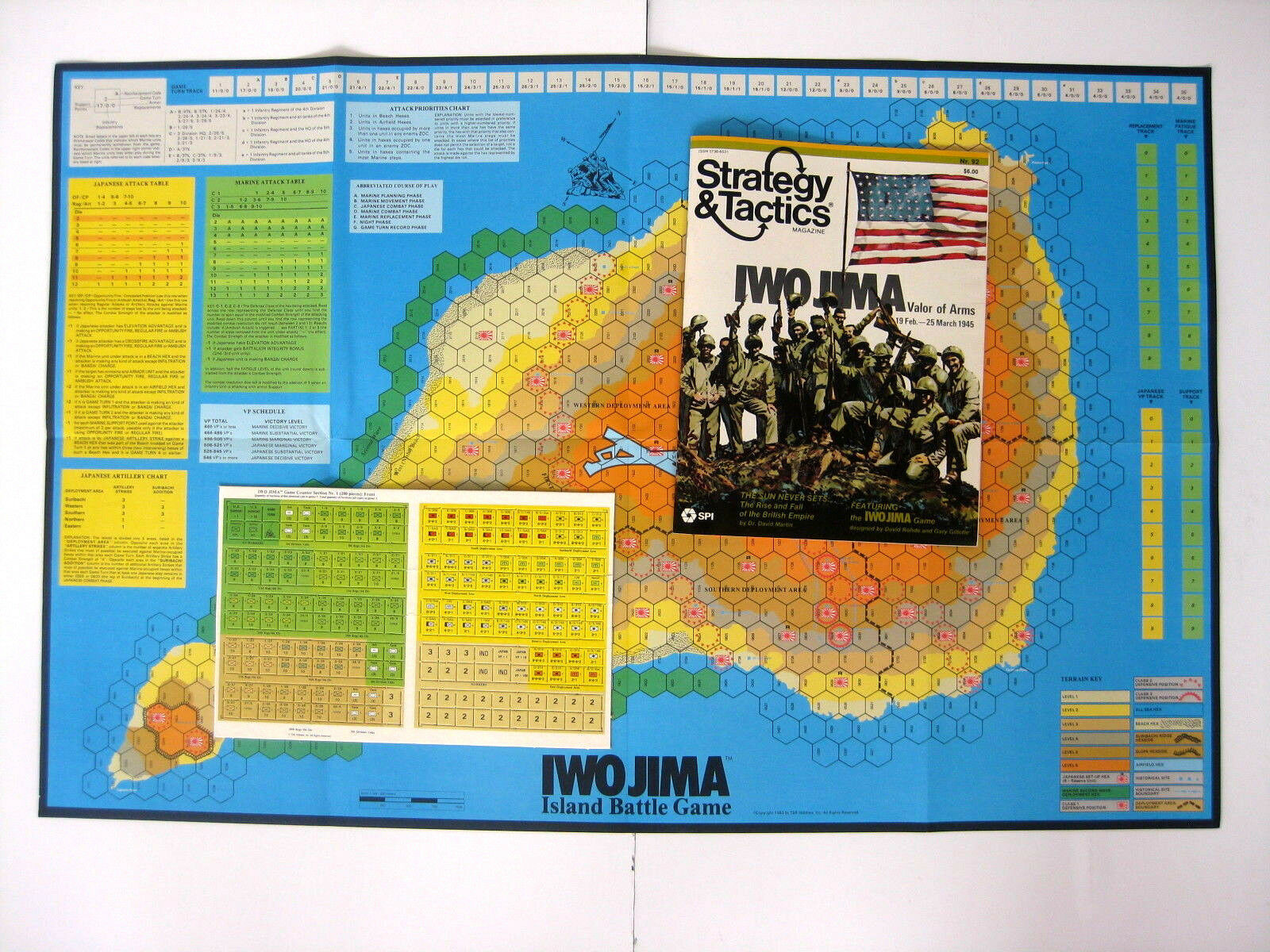 Strategy Tactics Nr 92 Iwo Jima Game Unpunched Dragon Publishing Spring 1983