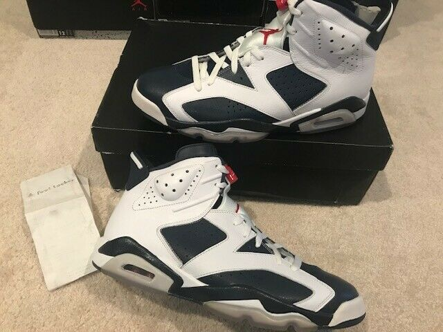 DS 2012 Nike Air Jordan 6 OLYMPIC LONDON Bred SUPREME Off White Receipt NEW