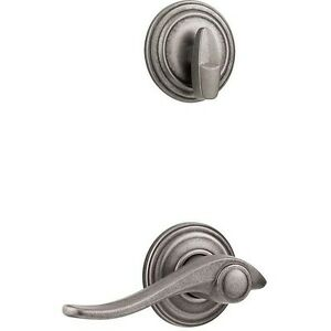 Image Is Loading Kwikset Avalon Rustic Pewter Left Handed Interior Pack