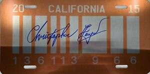 Christopher-Lloyd-autographed-signed-Back-To-The-Future-License-Plate-PSA-COA