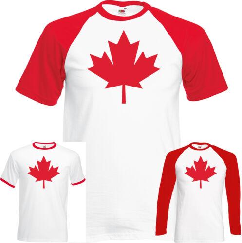 Canadian National Flag Maple Leaf Mens T-Shirt Canada Day Ice Hockey Basketball