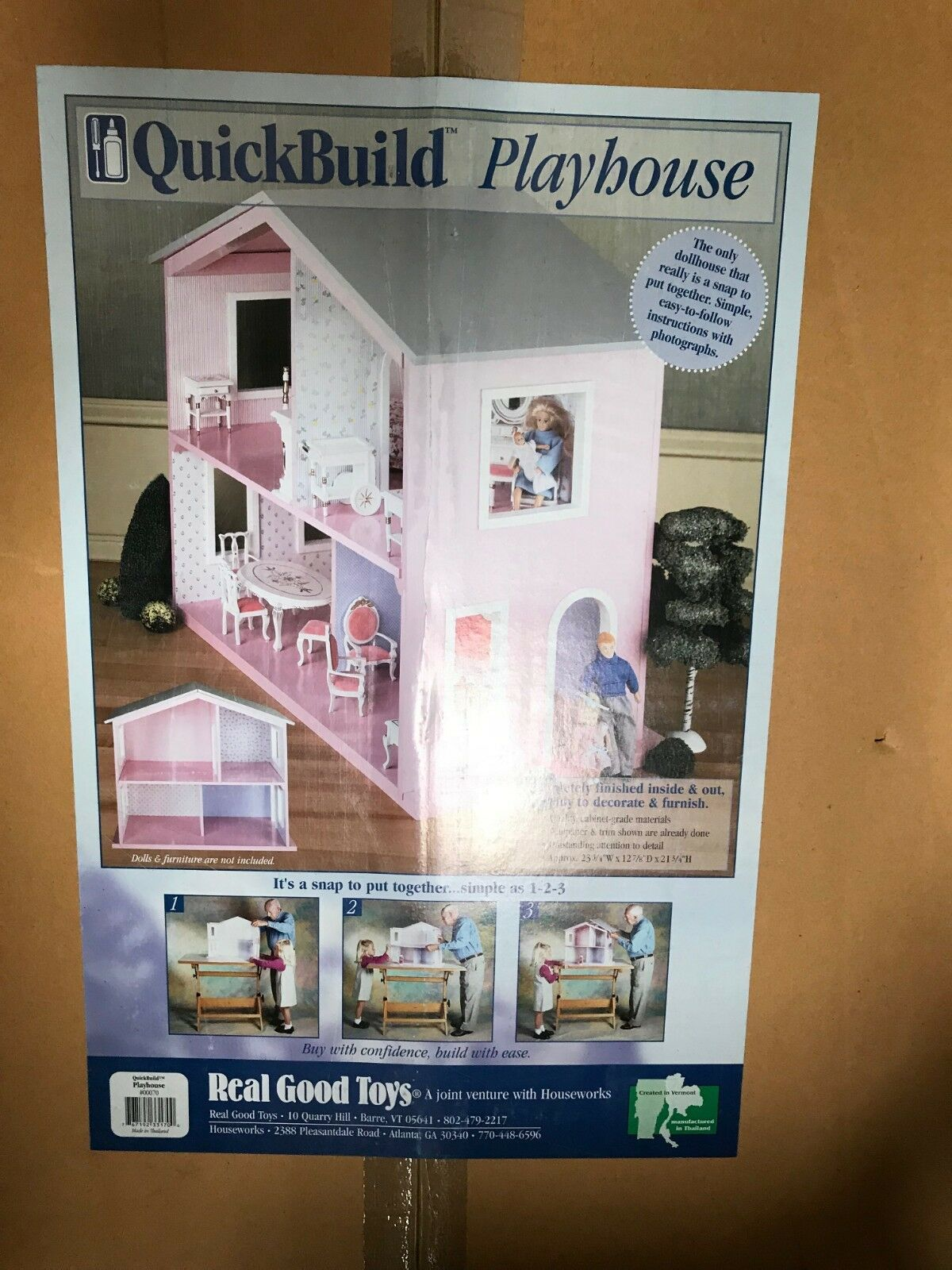 Real Good Toys rápida construir casa de muñecas