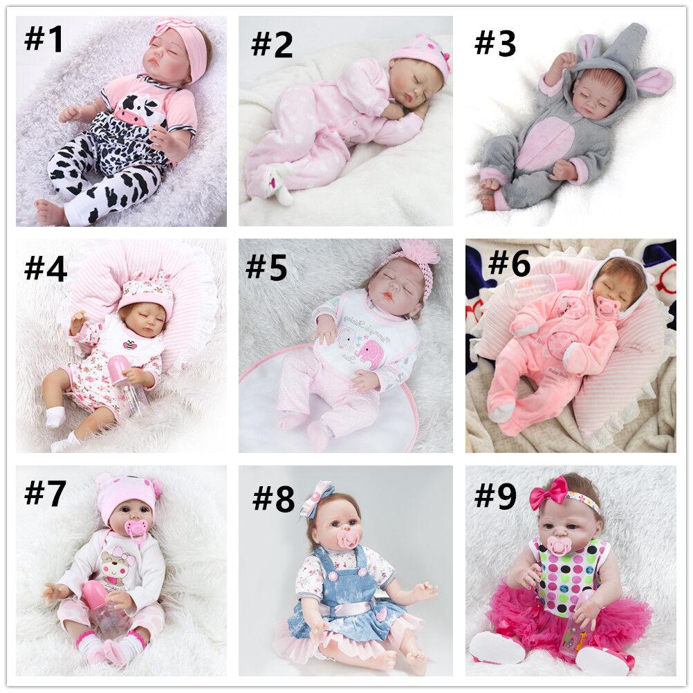 11'' 16'' 22'' Handmade Realistic Reborn Dolls Lifelike Vinyl Newborn Baby Xmas