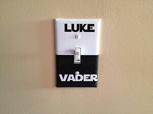 Star wars luke vader dark side sci fi light switch covers for Sci fi home decor