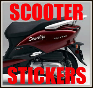 2 X Custom Personalised Scooter Stickers Moped Bike 750cc850cc