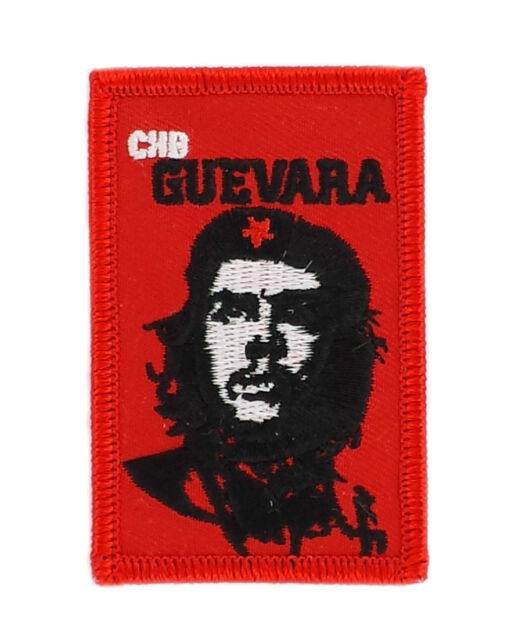FLAG PATCH PATCHES CHE GUEVARA IRON ON EMBROIDERED WORLD