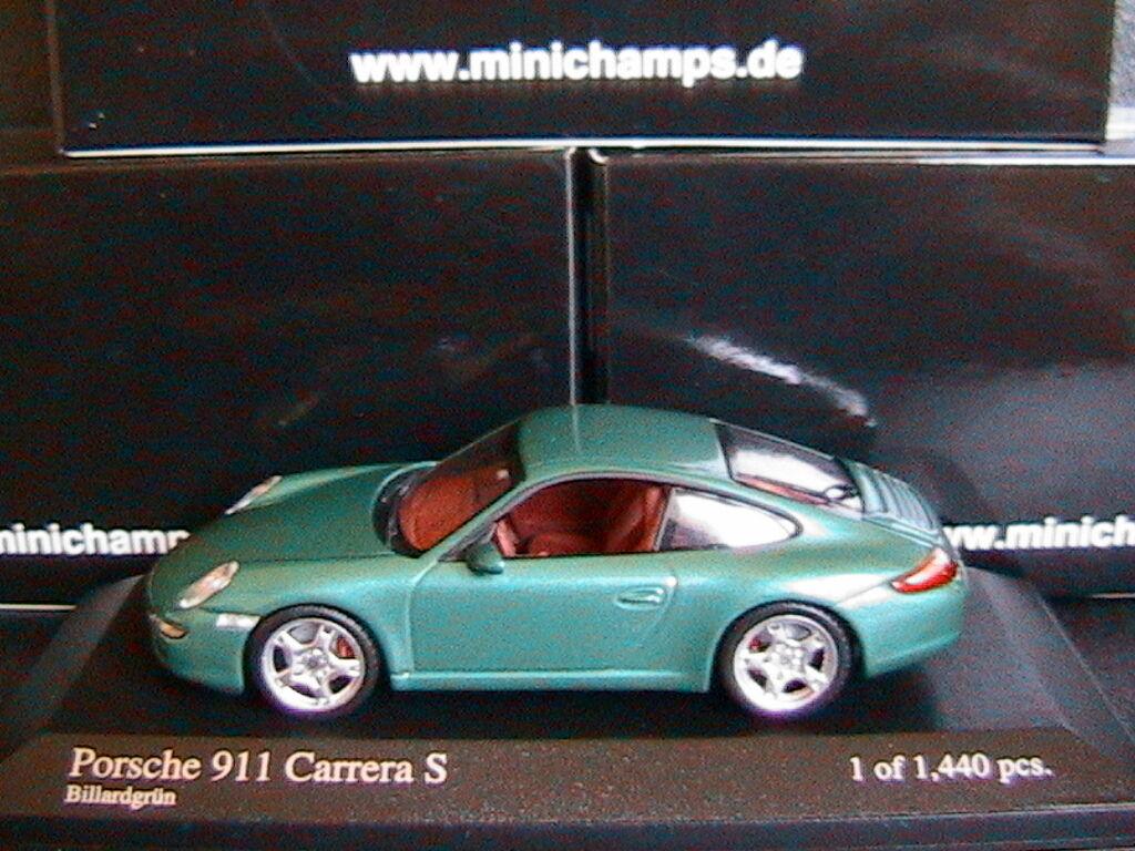 PORSCHE 911 997 CARRERA S BILLARDGRUN 2004 MINICHAMPS 400063022 1 43 vert METAL