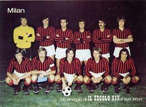 6-CARTOLINE-AUTOGRAFATE-CAGLIARI-MILAN-NAPOLI-TORINO-SAMP-FIORENTINA-1975-1976