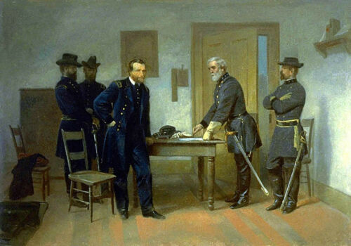 Lee Surrendering to Grant.. by Alonzo Chappel    Giclee Canvas Print Repro