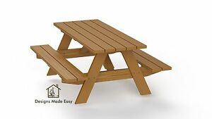 easy diy traditional picnic table design plan instructions