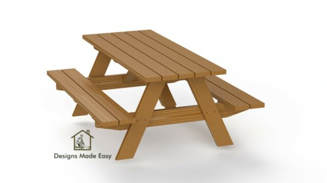 Traditional Picnic Table Easy Woodworking Plans 01 Free Board Cut Diagram