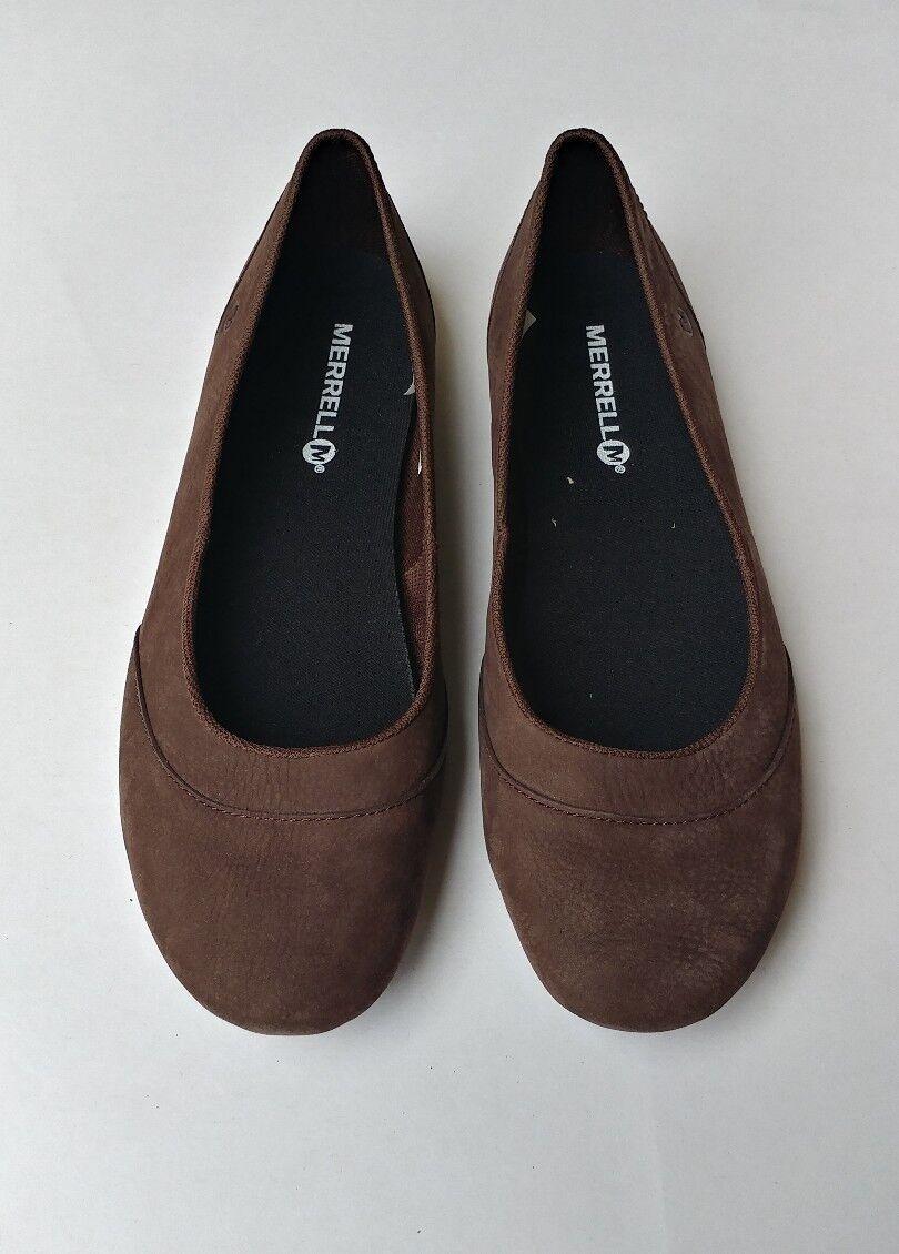 Merrell Mujer Inde Ballet Nubuck ensuciar Marrón Zapatos Zapatos Zapatos sin Taco Talla 7  gran venta