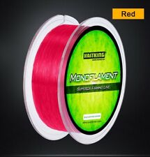 2 Spools Plus7 Monofilament 12lb Test 400 Yds Red Premium Fishing Line