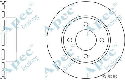1x OE Quality Replacement Front Axle Apec Vented Brake Disc 4 Stud 245mm - Pair