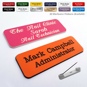 Details About Custom Engraved Name Badge Office Retail Florist Trainee Fonts