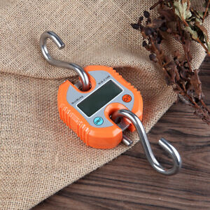 Portable 150kg//50g LCD Poultry Hanging Luggage Weight Electronic Hook Scale