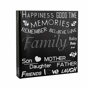 Large Black Text Cover Ring Binder Photo Album for 500 Photos 4 x 6'' 689788823034