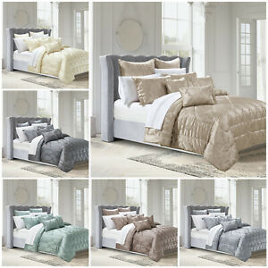 Luxury 3 Piece Bedspread Comforter Set With Pillow Shams Double King Super King Ebay