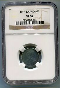 1894-South-Africa-Zuid-Afrika-Kruger-6-Pence-NGC-VF30-number-2756989-002-Coin