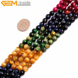 Wholesale-Pink-Tiger-s-Eye-Gemstone-Round-Beads-Jewelry-Making-15-034-6mm-10mm-12mm